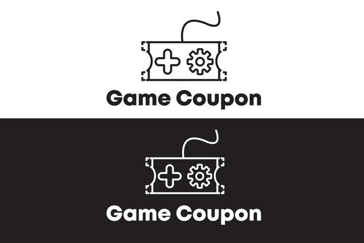 Game Coupon Logo Concept Minimalist