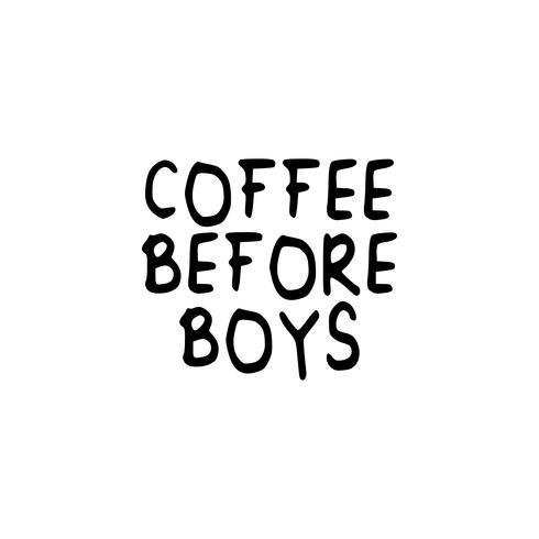 Café antes del texto del eslogan de los niños.