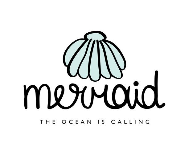 Mermaid design with sea shell
