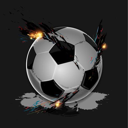 Ballon de foot splash coloré