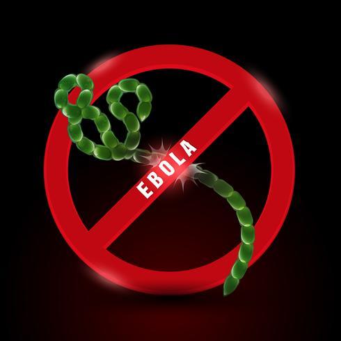 Stoppen Sie das Ebola-Virus vektor