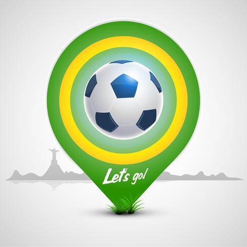 Puntero verde balon de futbol