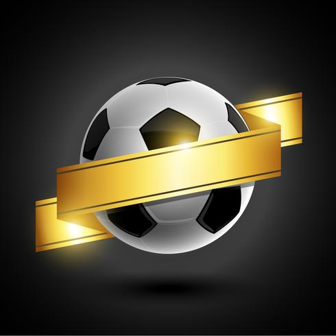 Gouden lint voetbal embleem