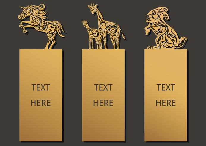 Bookmark conjunto de animais
