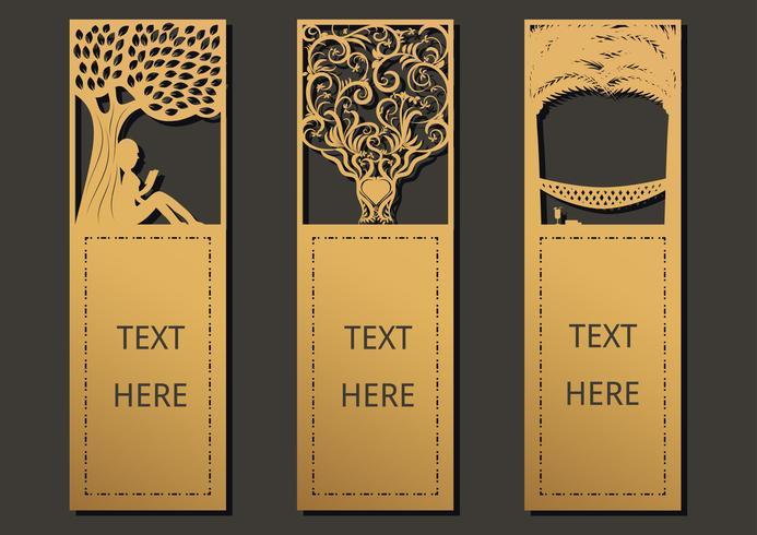 Set di alberi segnalibro