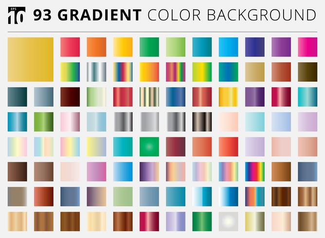Set of 93 square gradient color backgrounds vector