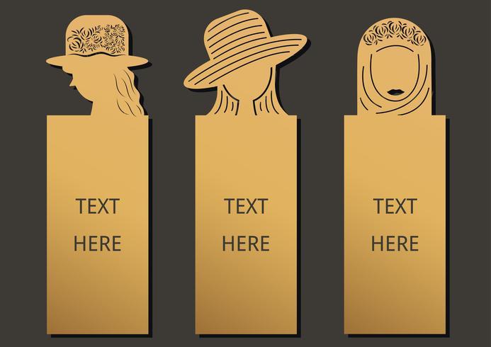 Bookmark conjunto de mulher
