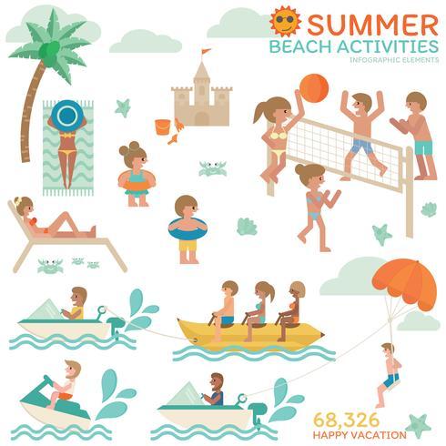 Beach Activities Infographic.