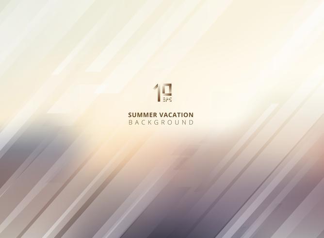 Abstrakter Sommer verwischte Hintergrund mit gestreiften Linien diagonal. vektor