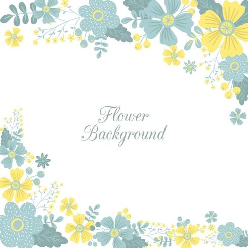 Spring Flower / Floral Border / Wreath Background Printed Template - Vector Illustration