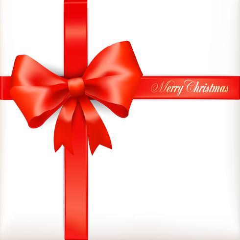 Red ribbons Merry Chrismas