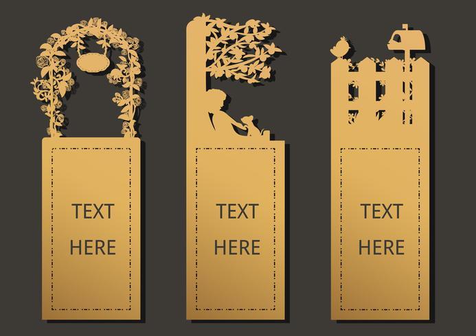 Bookmark garden template