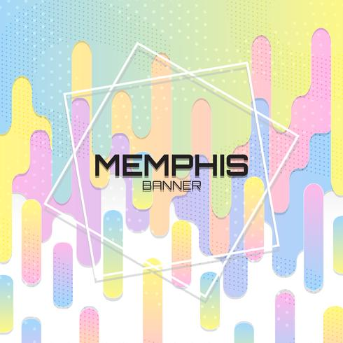 Colorful Memphis Background