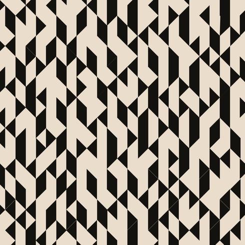 Los triángulos negros geométricos abstractos estructuraron el modelo en fondo marrón. vector