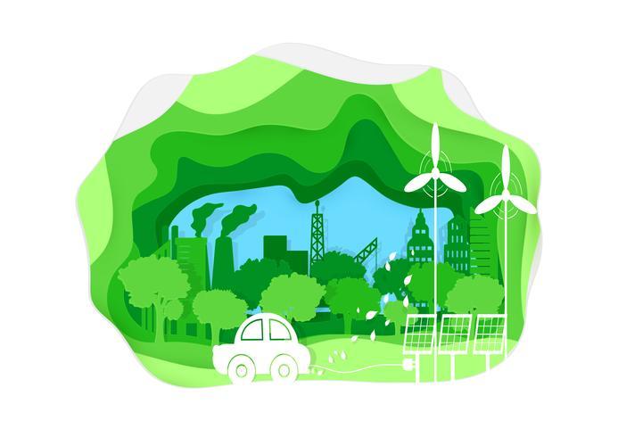 Style de papier de l'environnement