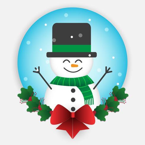 cartoon sneeuwman kerstmis