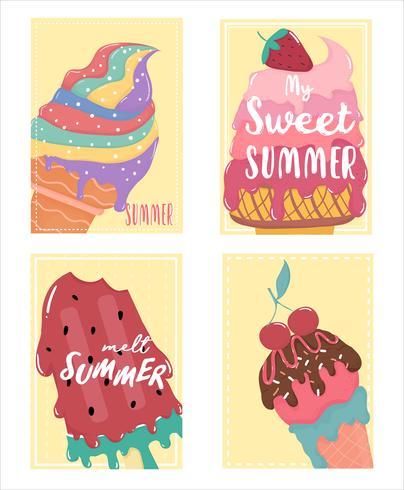 simpatica carta da zucchero dolce gelato sciolto con testo