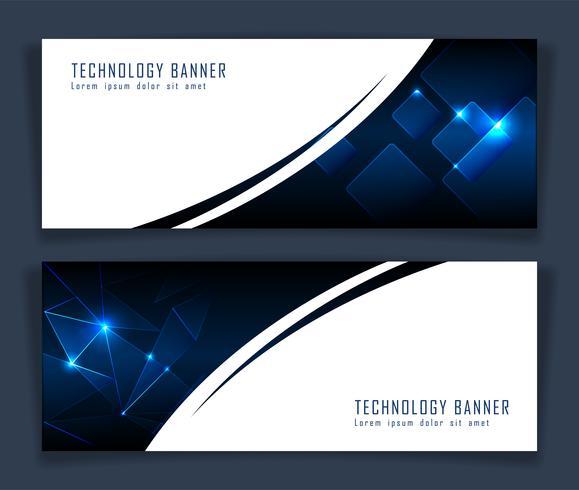 Futuristische abstracte technologiebanner vector