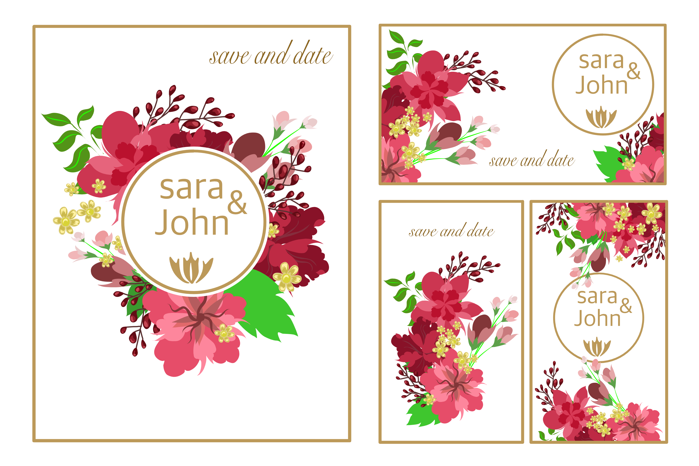 flower floral wedding banner card  download free vectors