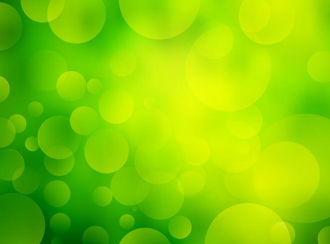 Fondo de bokeh circular verde abstracto vector