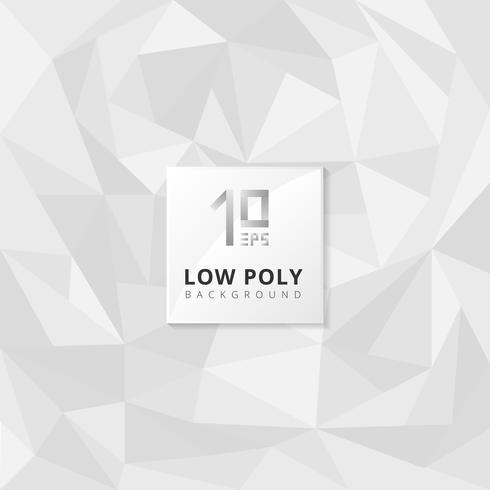 Graue Dreiecke der abstrakten niedrigen Polybeschaffenheit formen gelegentliches Muster auf weißem Hintergrund.