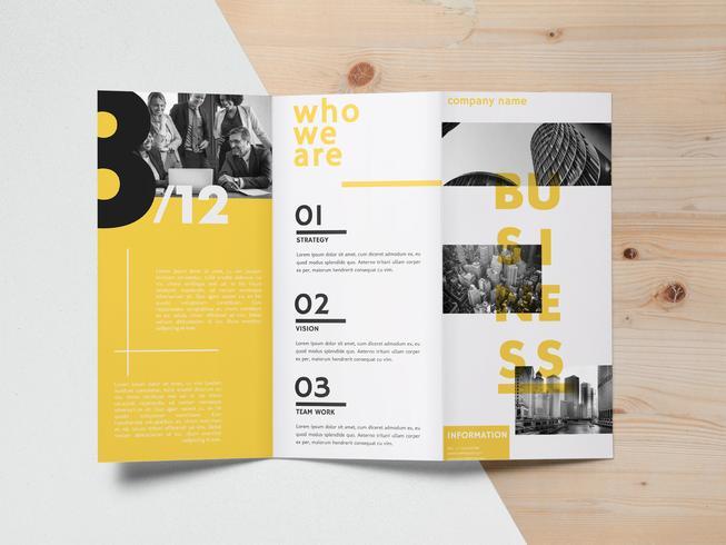 Brochure Template Vector Design