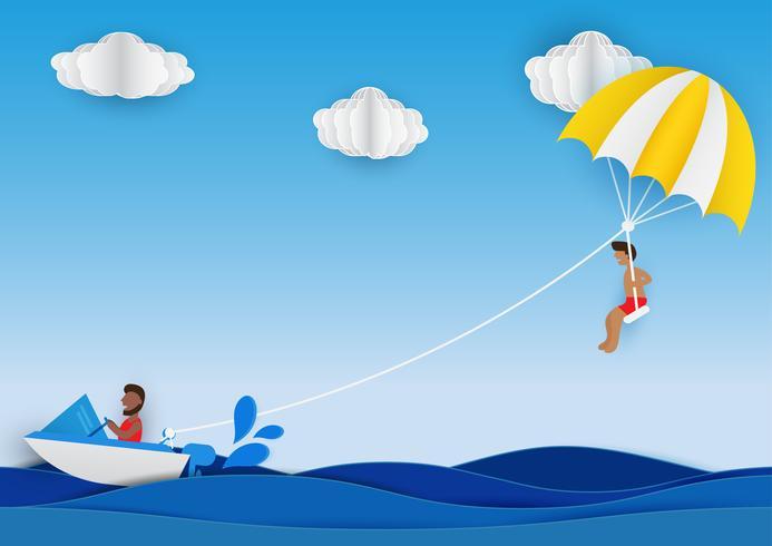 Style d'art de papier de parachute