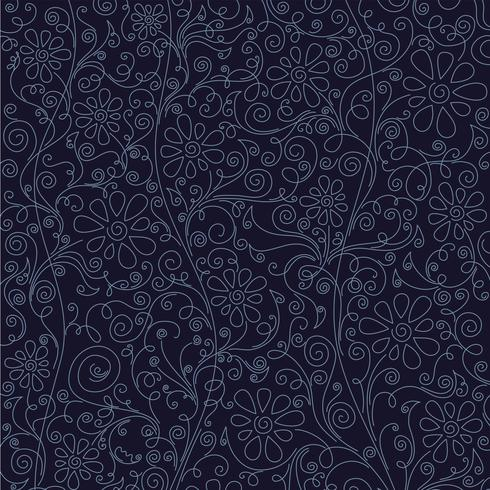 blommönster bakgrund, vektor illustration.