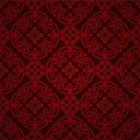 fundo ornamental de luxo. Padrão floral Damasco. Papel de parede real. vetor