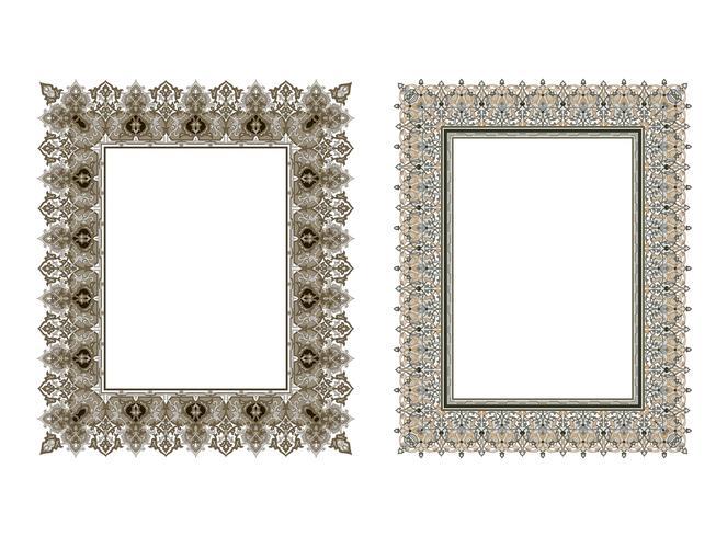 square elegant frame.. Vector Illustration.