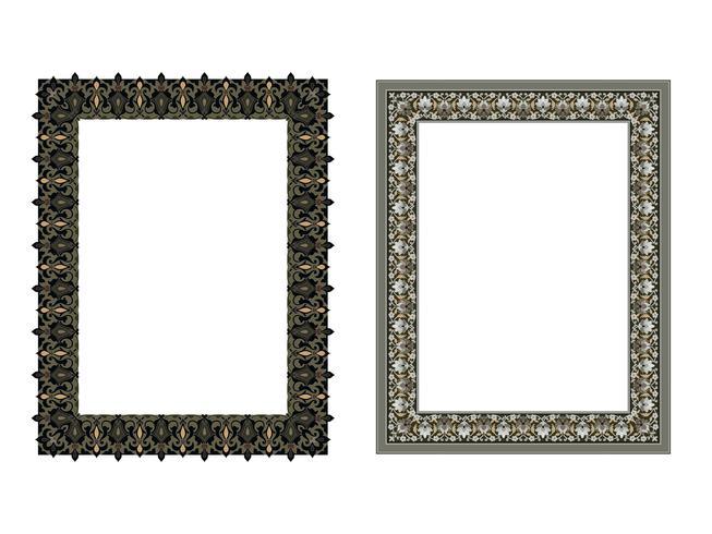 Marco cuadrado elegante. Ilustración vectorial. vector