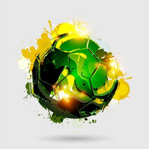 soccer ball explosion white vector