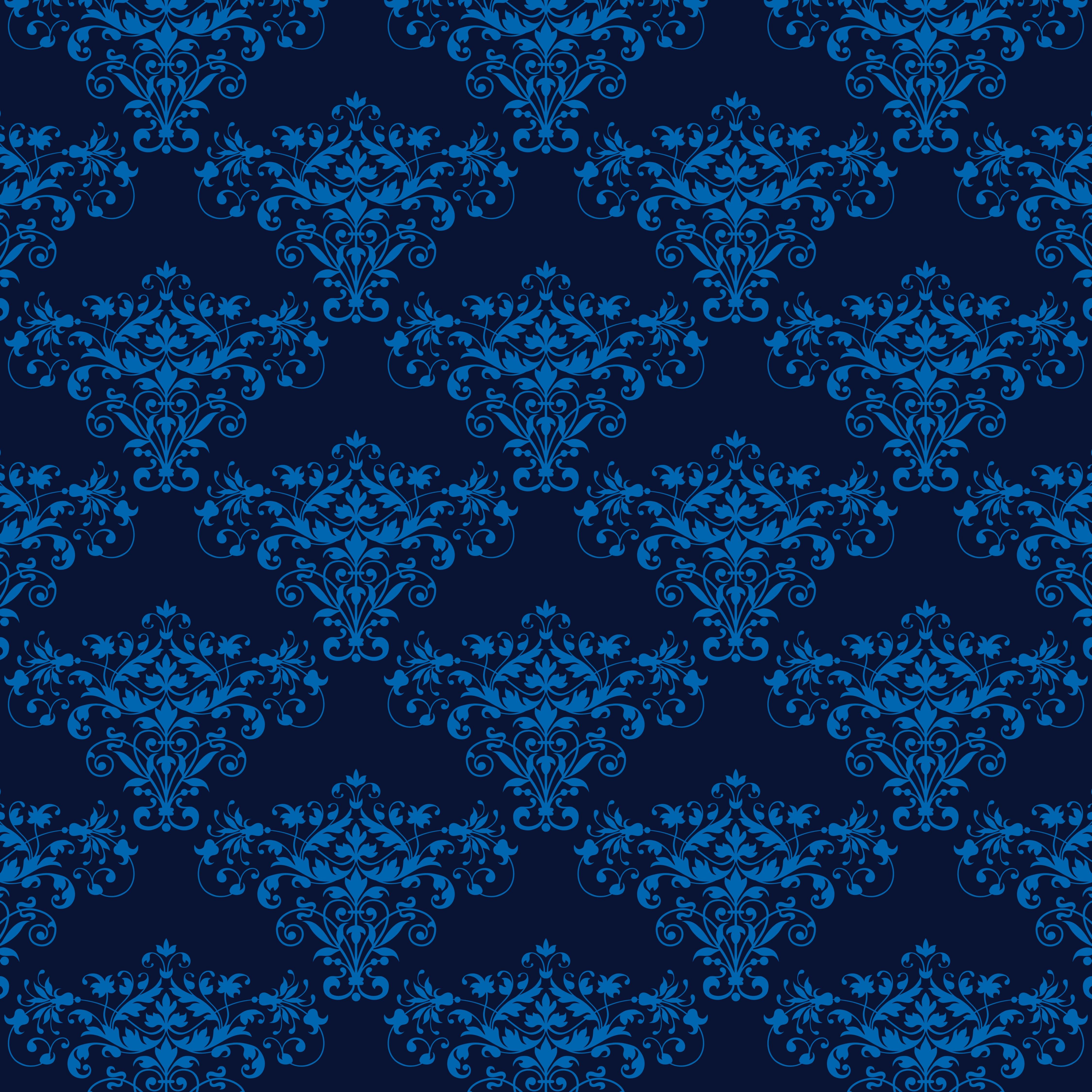elegant blue seamless damask background - Download Free ...