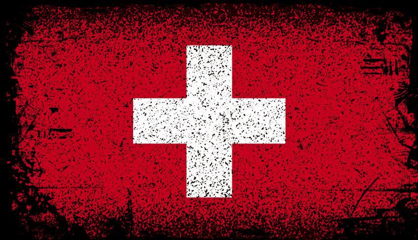 suisse drapeau grunge. illustration vectorielle de fond