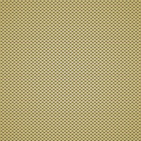 padrões sem emenda do fundo da fibra do carbono do ouro. Ilustração vetorial