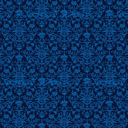elegante blauwe naadloze damastachtergrond