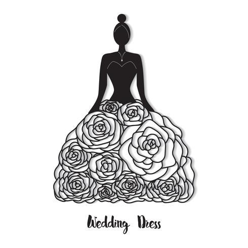 Plantilla de vestido de novia vector