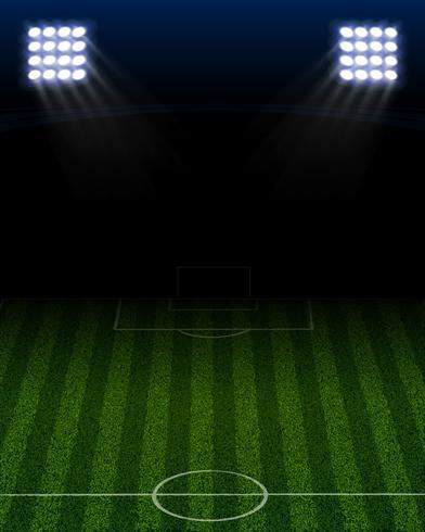 retrato del estadio de futbol vector