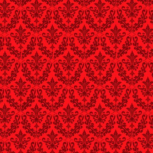 Fondo ornamental de lujo. Damasco patrón floral. Papel tapiz real. vector