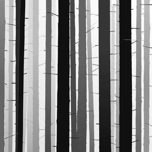 sagome di alberi. foresta di alberi di ombra. illust di vettore dettagliata