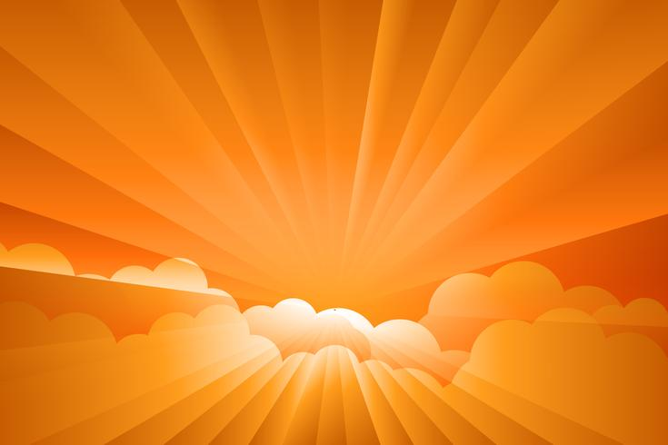 sunburst sunrise Illustration vecteur