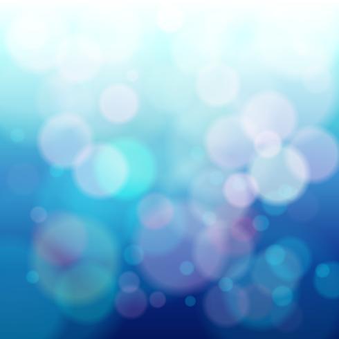 Fondo de bokeh circular azul abstracto vector
