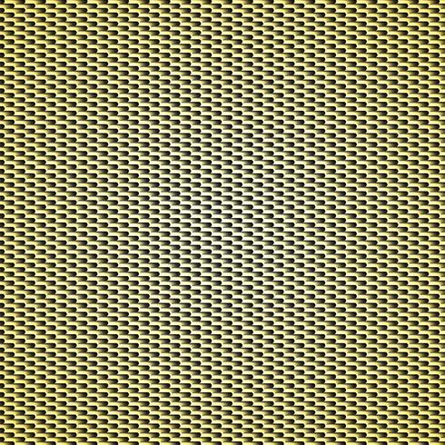 Fondo de textura de fibra de carbono de oro - ilustración vectorial vector