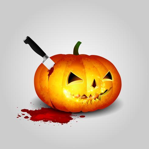 Cabeza de cuchillo de calabaza de halloween vector