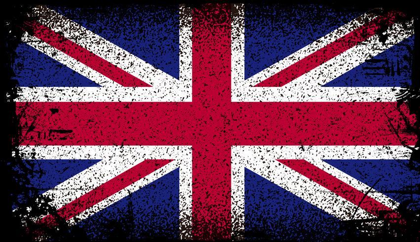 bandiera del Regno Unito grunge. illustrazione di sfondo vettoriale