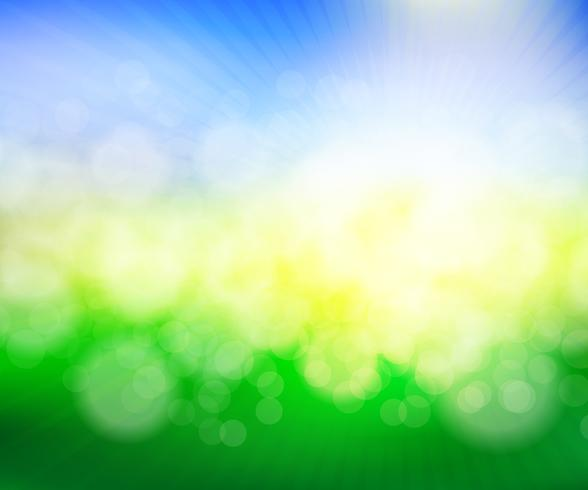 abstrato verde primavera desfocar a ilustração vetorial de fundo