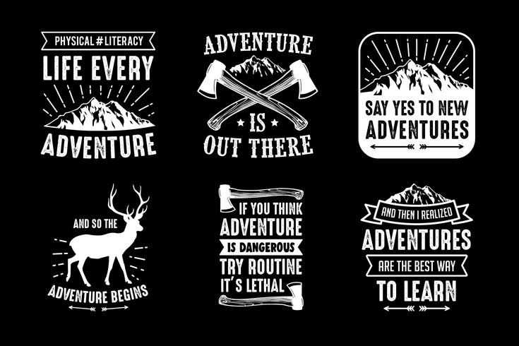 Adventure Quote and Saying, goed voor afdrukken