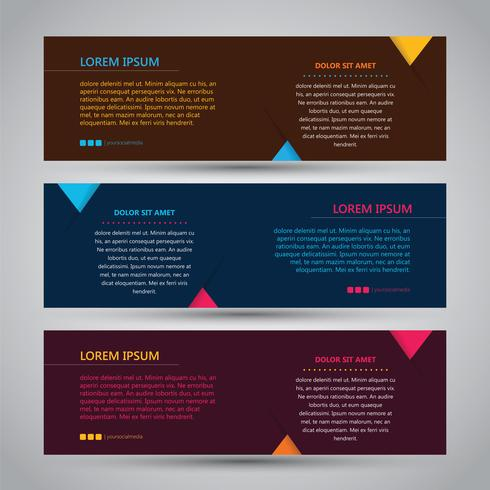 Banner abstracto tricolor simple vector