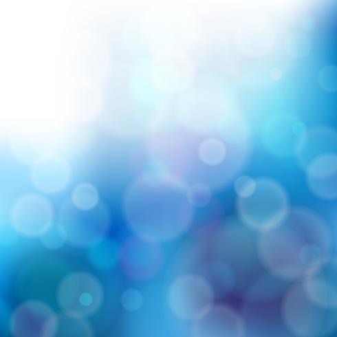 Luces en el fondo azul - ilustración vectorial, diseño gráfico útil para su diseño. Fondo de Navidad abstracto azul brillante con copos de nieve blancos