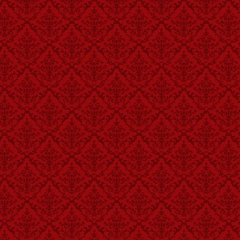 luxury ornamental background. Red Damask floral pattern. Royal wallpaper.